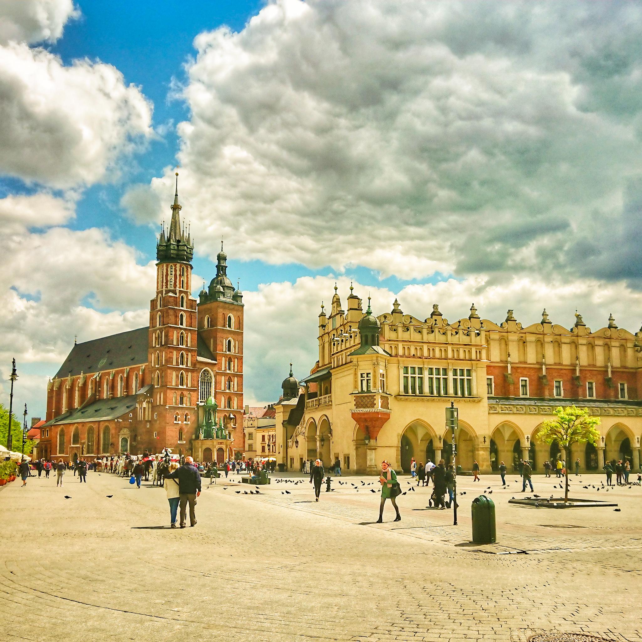 Widok na Rynek Główny w Krakowie