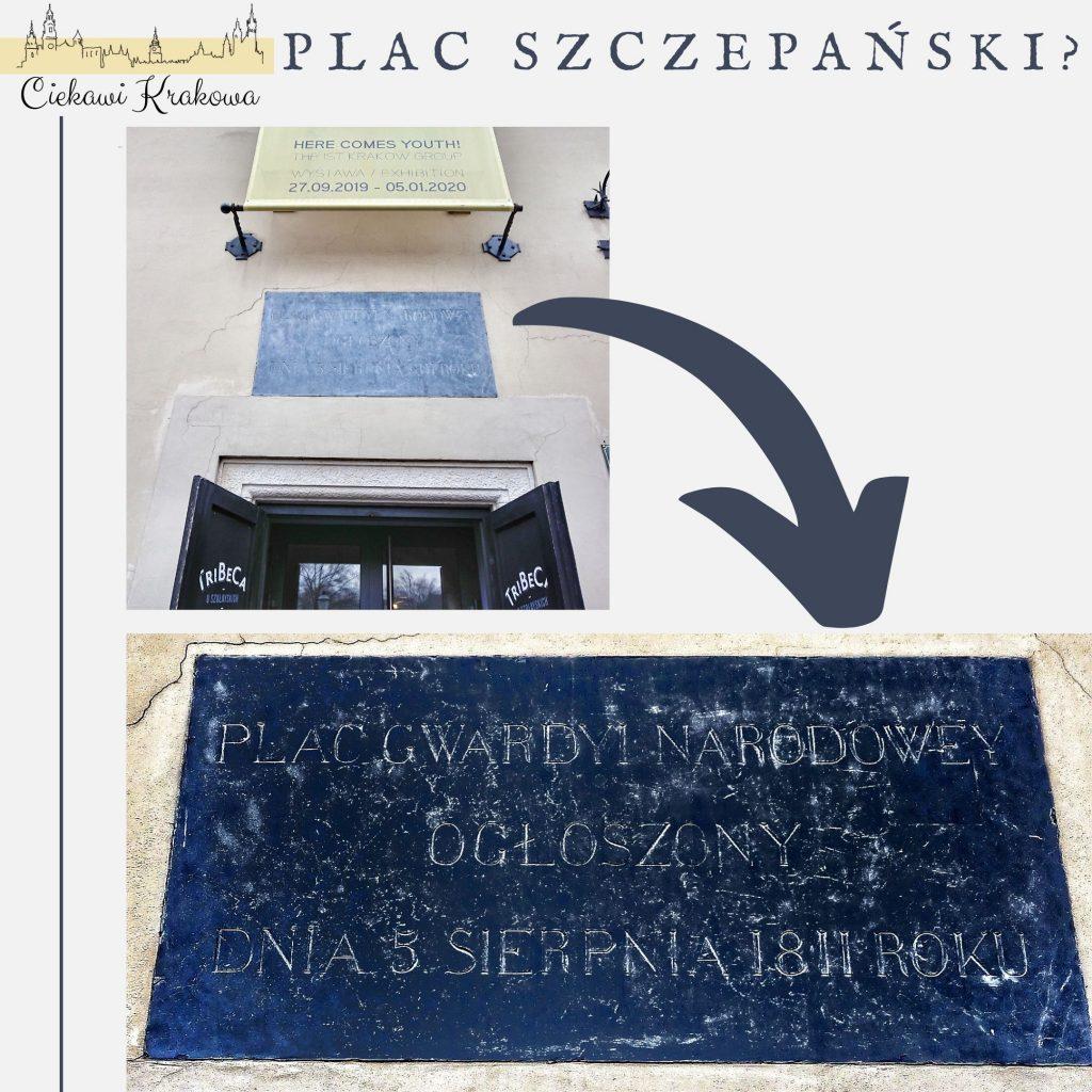 Tablica z placu Szczepańskiego