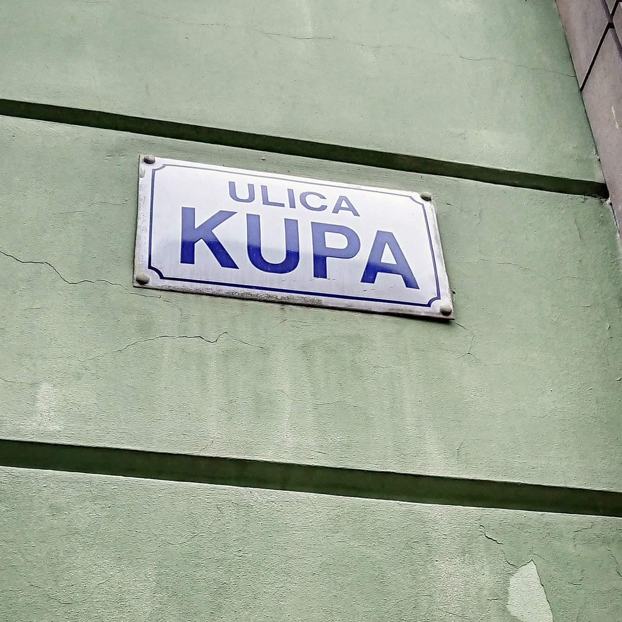 Ulica Kupa w Krakowie.