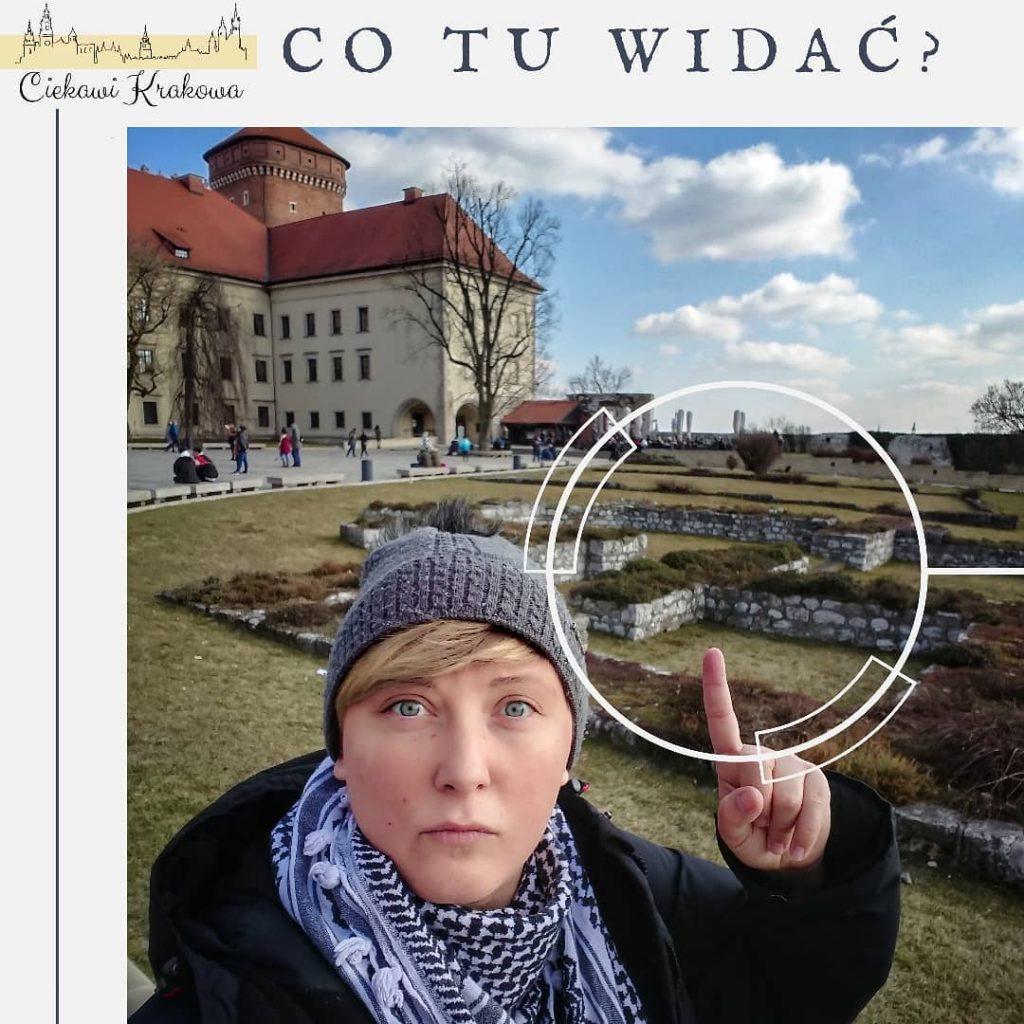 fundamenty na wzgórzu Wawelskim