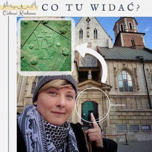 drzwi do katedry na Wawelu